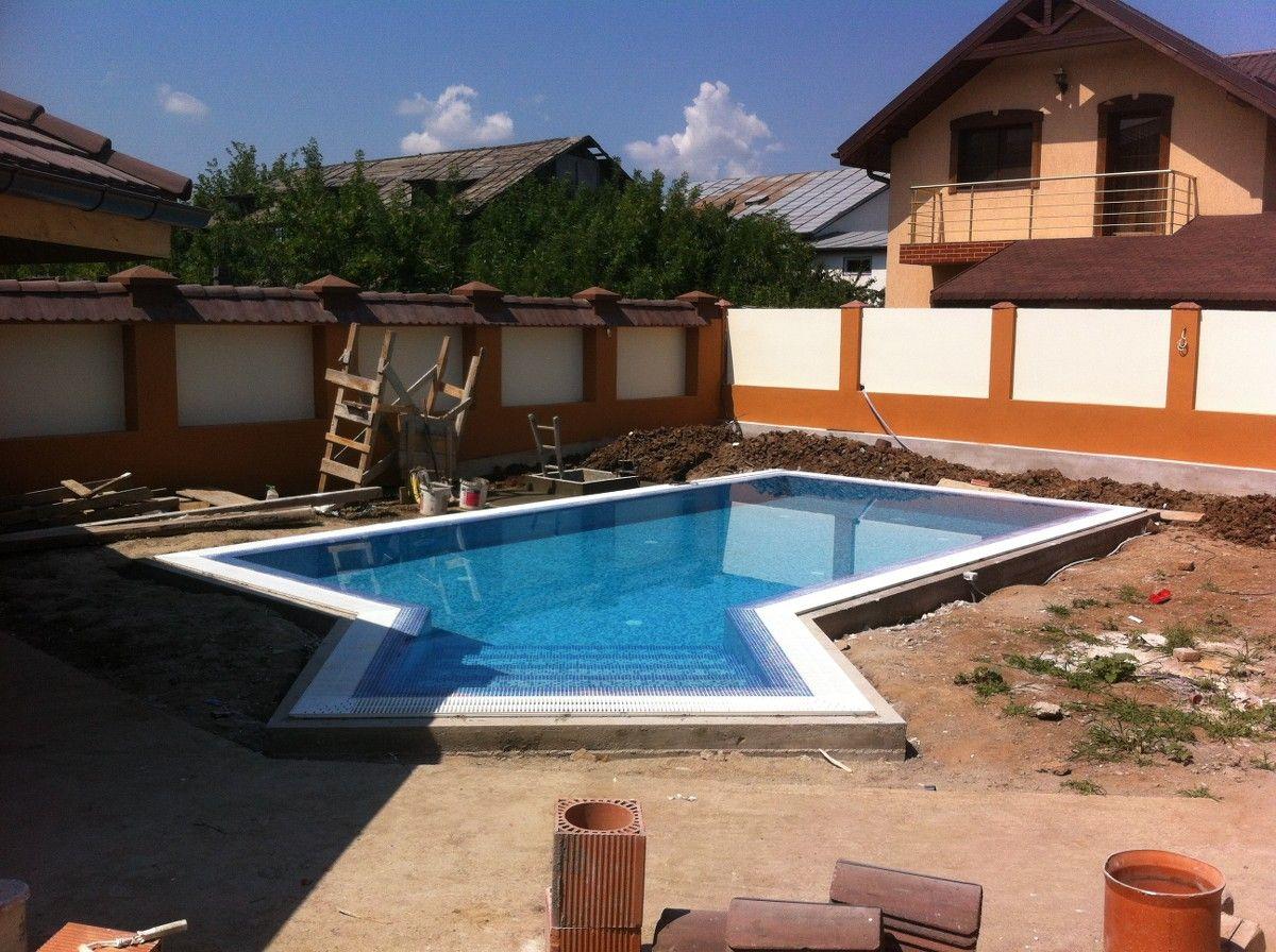 Constructia piscinei elisa chiajna rosu ilfov for Constructii piscine romania