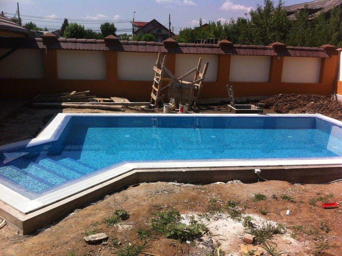 Constructia piscinei elisa chiajna rosu ilfov for Aqua piscine