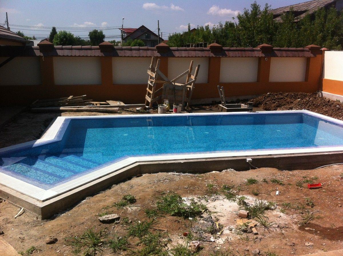 Constructia piscinei elisa chiajna rosu ilfov for Constructii piscine