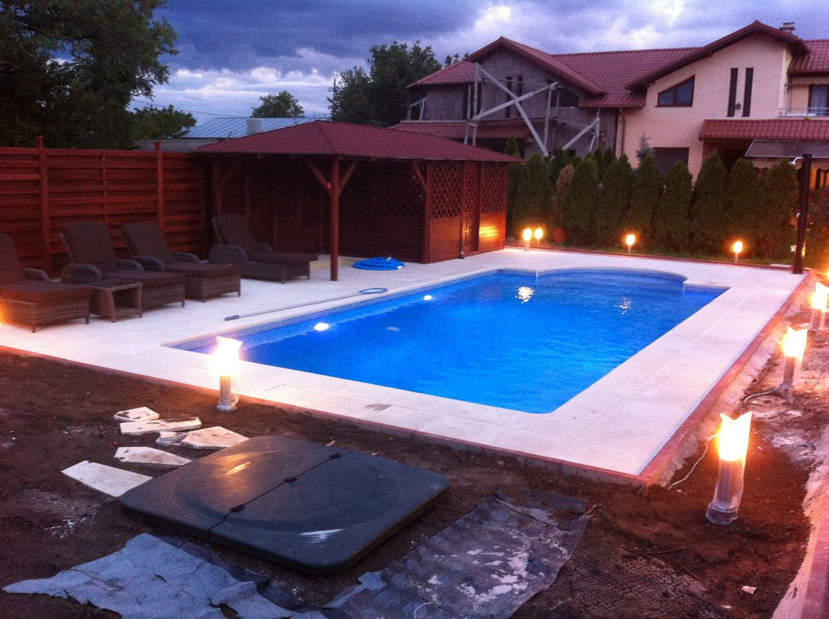 Constructia piscinei margarita tunari ilfov for Constructii piscine romania